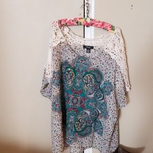Style & co woman sheer blouse